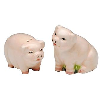 Country Pig Farm Sow Ham Salt and Pepper Shaker