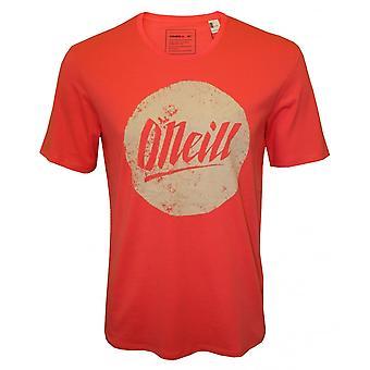 O ' Neill cercle Logo Crew-Neck T-Shirt, Deep Sea Coral