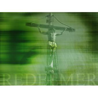 Jesus On Cross Poster Print by Tim Antoniuk  Don Hammond  Design Pics