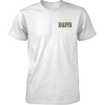 Marines - USMC - Royal Marines - Nederlands - Elite marinestrijdkrachten - Kids borst Design T-Shirt