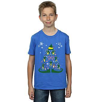 Elf Boys Christmas Tree T-Shirt