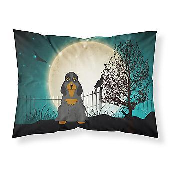 Halloween Scary Cocker Spaniel Black Tan Fabric Standard Pillowcase