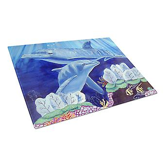 Carolines Treasures  7080LCB Dolphin under the sea Glass Cutting Board Large