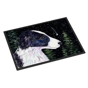 Starry Night Border Collie indendørs eller udendørs Mat 18 x 27 dørmåtte