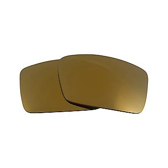 Replacement Lenses for Oakley Gascan S Sunglasses Gold Mirror Anti-Scratch Anti-Glare UV400 by SeekOptics