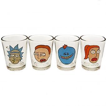 Rick And Morty 4pk Shot Glass Set