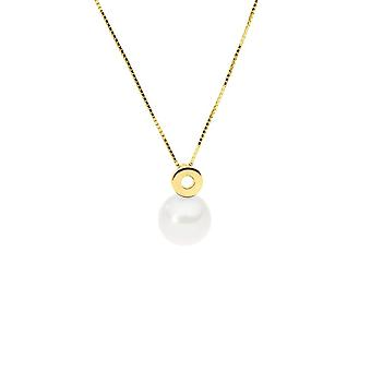 Yellow Gold Necklace 375/1000 and Pearl of White Culture 4687