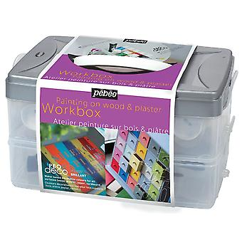 Pebeo Deco Paint Glossy Workbox 10 x 45ml