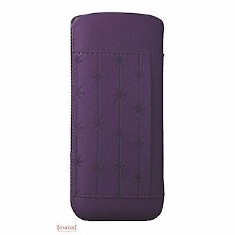 Ozaki coat nature snowflake leather bag purple iPhone 5 5 S OC551SF