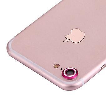 Anello di protezione protezione fotocamera per Apple iPhone 7 rosa
