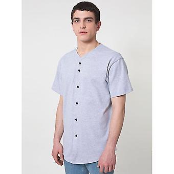 الملابس الأمريكية رجالي سميكة متماسكة كم قصير تي شيرت البيسبول