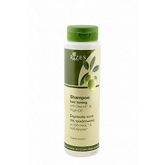 Hair toning shampoo with olive oil and argan oil (250ml).