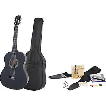 MSA Musikinstrumente Classical guitar 4/4 Black incl. gig bag