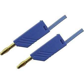 SKS Hirschmann MLN 200/2,5 BL Test leiden [banaan jack 4 mm - banaan jack 4 mm] 2 m blauw