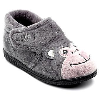 Chipmunks Boys Bubbles Slippers Grey