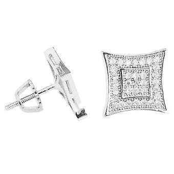 Iced out bling micro pave boucles d'oreilles - KITE 10 mm