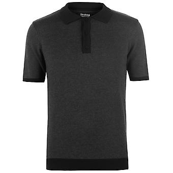 Firetrap Herren Strick Polo-Shirt Classic Fit T-Shirt Top Kurzarm Baumwolle Button