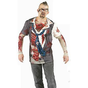 T-skjorte zombie horror skjorte Mr kostyme Halloween zombie skjorte kostyme menn