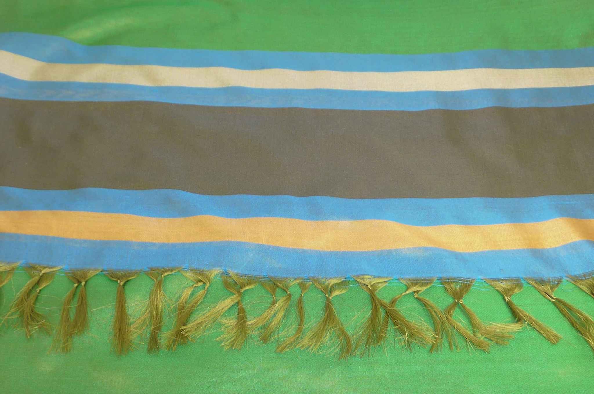 Varanasi Border Prime Silk Long Scarf Heritage Rampersan 414 by Pashmina & Silk