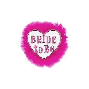 Sposa per essere distintivo-bianco