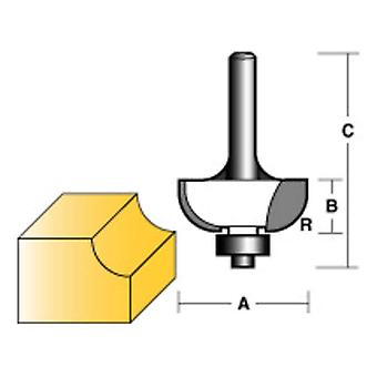 "CARBITOOL COVE ROUTER BIT 1/4"" W/BEARING 1/2"" SHANK"