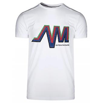 Antony Morato Sport Crew Neck White AM Logo T-Shirt
