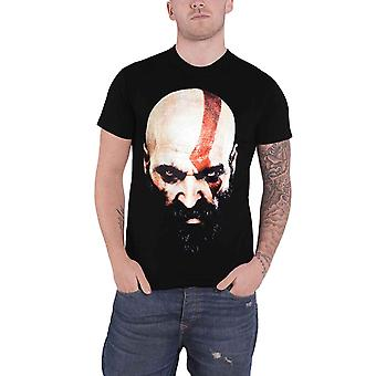 God Of War T Shirt Kratos Face new Official PS4 Gamer Mens Black
