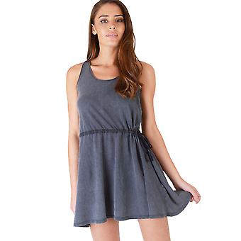 Double Agent Slate Grey Relaxed Fit Short Skater Dress