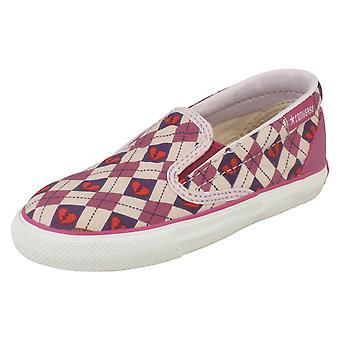 Girls Converse Slip On Shoes Inft Skid Grip Ev