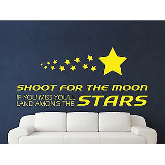 Shoot for the Wall Sticker Art Lune - Bright Yellow