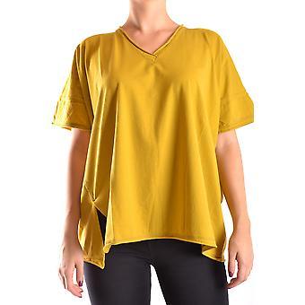Liviana Conti Ezbc261027 Dames's Geel Katoen T-shirt