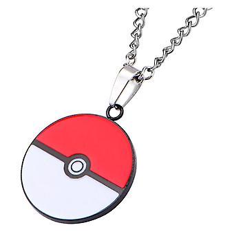 Pokémon Poké Ball Enamel Pendant Necklace