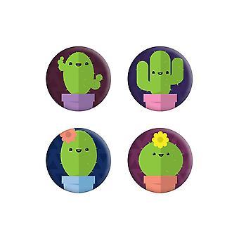 Grindstore söpö cacti Badge Pack