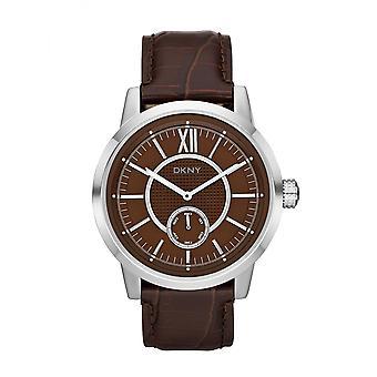 DKNY Fancy Men ' s Silver & Brown Watch NY1521