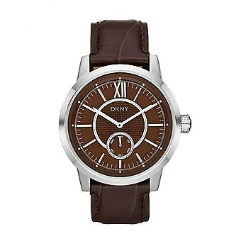 DKNY Fancy Men es Silver & Brown Watch NY1521