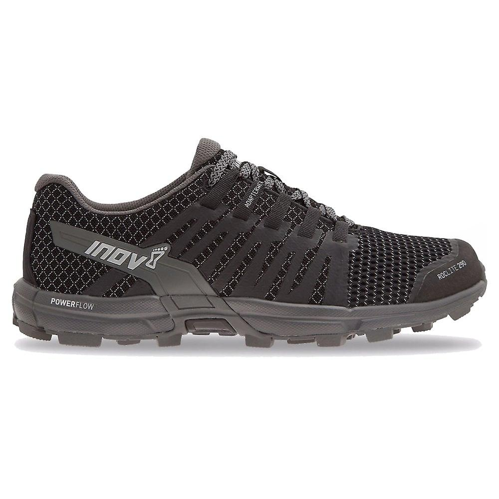 Inov8 Roclite 290 Mens 4mm Drop Lightweight & Responsive Trail Running Shoes Black/grey