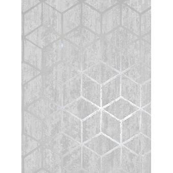 Rochester geometrische Tapete Silber Holden Dekor 65200