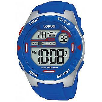 Lorus | Mens Sports Digital | Blue Rubber Strap | R2301NX9 Watch