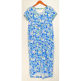 Stan Herman Women's Gowns Spring Bloom Hi-Low Dress Blue A301857