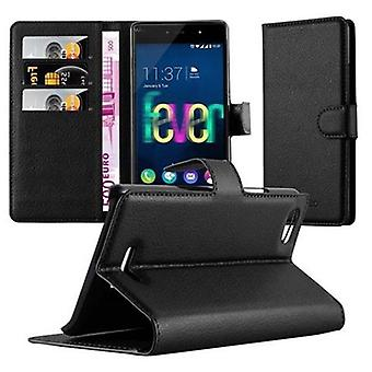 Cadorabo Case for WIKO FEVER 4G Case Cover - Phone Case with Magnetic Closure, Stand Function and Card Case Compartment - Case Cover Case Case Case Case Book Folding Style