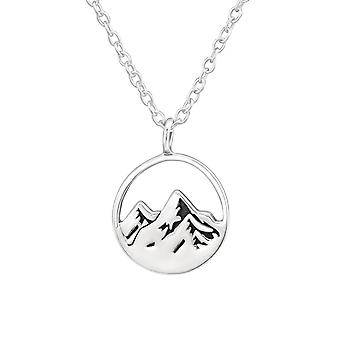 Mountain - 925 Sterling Silver Plain Necklaces - W37905x