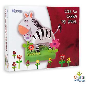 Crafts by Andreu Toys Create Your Zebra Paper