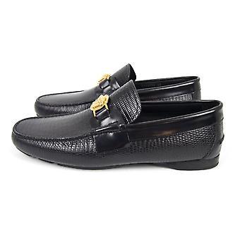 Versace Medusa Medallion Mock Croc loafers musta