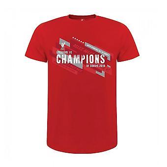 Liverpool FC Childrens/Kids campeões da Europa camiseta