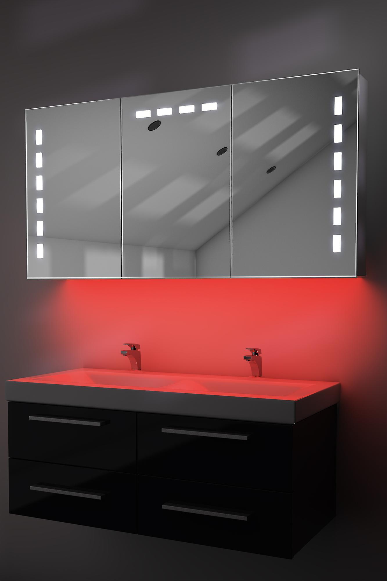 Armoire avec RGB, capteur & interne rasoir k379rgb de désembuage