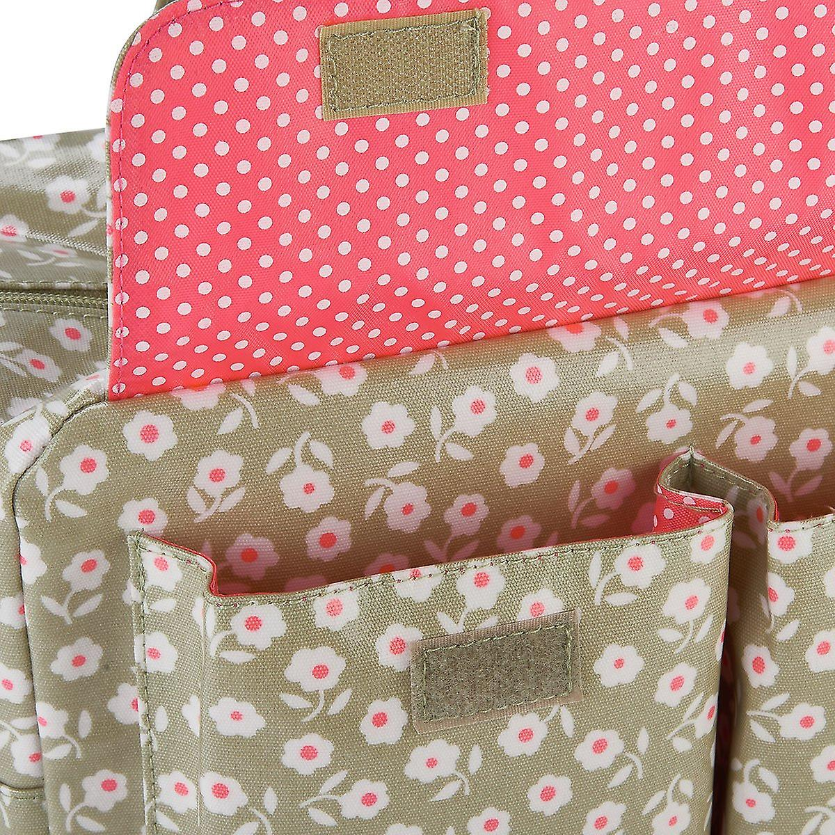 'victoria green' carry all wash bag - daisy sage