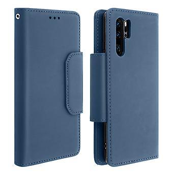 Magnetisk avtagbar plånbok Folio Case för Huawei P30 Pro-mörkblå