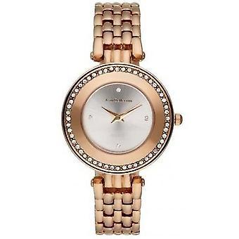 Watch Jean Bellecour Business REDT25 - watch crystals gold Rose wife