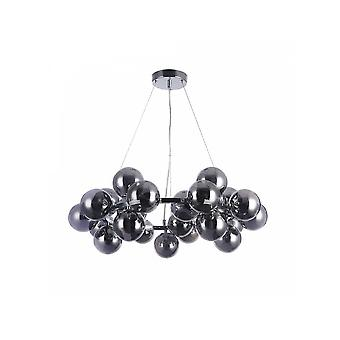Maytoni Lighting Dallas Contemporary Chrome Hoop Pendant With Glass Bobbles