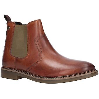 Base Londres Mens Piper Waxy Leather Clelsea Ankle Boots